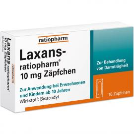 LAXANS RATIO 10MG SUPPOSITORIEN 10ST